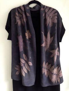 Logwood dyed shawl or scarf from my Etsy shop https://www.etsy.com/listing/475169035/eco-print-silk-scarf-shawl-dark-blue