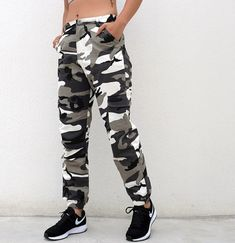 Casual High Waist Loose Ladies Pants  Price: 32.90 & FREE Shipping  #hashtag2 Orange Camo Pants, Camouflage Pants, Pink Camo, Ladies Pants, Pants For Women, Plus Size Leggings, Ankle Length Pants, Trousers Women, Sports Women