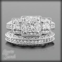 3 Stone Diamond Engagement Ring and Wedding by ...
