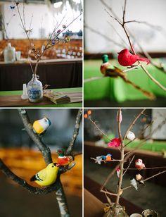 lovely bird centerpiece