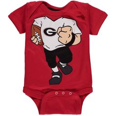 Georgia Bulldogs Newborn & Infant Football Dreams Bodysuit - Red