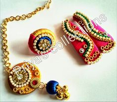 For reference only Silk Thread Bangles, Thread Jewellery, Jewelry Making Tutorials, Jewellery Making, Mang Tikka, Bridal Sets, Ganesha, Terracotta, Jewelery