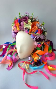 Festival Themed Party, Yarn Flowers, Oriental Flowers, Flower Festival, Flower Headpiece, Diy Hair Accessories, Floral Crown, Festival Outfits, Headpieces