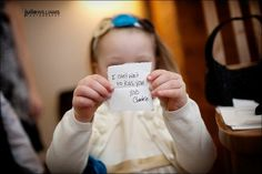 Instead of flowers, have the flower girl send a note down the aisle from the bride to the groom