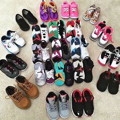 A shoe collection of the latest sneakers or at least the popular brand sneakers