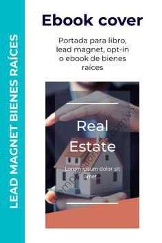 Portada de ebook, opt-in, lead magnet para inversiones inmobiliarias. Cover Pages