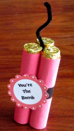 """DIY """"You're the Bomb"""" Valentines"""
