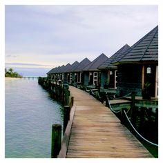 Corredor dos nossos Bungalows - Kuredu Island Resort, Maldivas