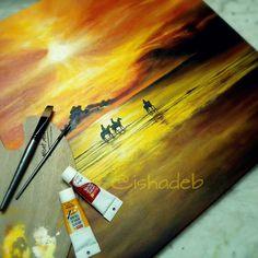 Acrylic on canvas...