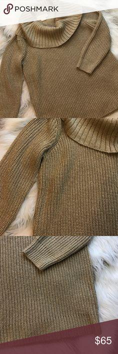 Michael Kors gold cowl neck sweater Michael Kors gold cowl neck sweater in like new condition Michael Kors Sweaters Cowl & Turtlenecks
