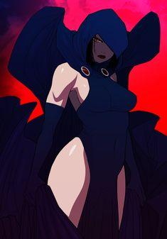 Teen Titans Raven, Teen Titans Fanart, Teen Titans Go, Comic Book Characters, Comic Character, Comic Books Art, Comic Art, Art Anime, Anime Art Girl