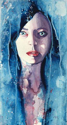 Molly Brill's watercolor portraits
