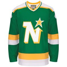 b8a82e9b1 Minnesota North Stars CCM Vintage 1981 Green Replica NHL Hockey Jersey  CoolHockey