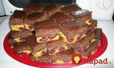 Skvelý pudingový koláčik, ktorý chutí tak výborne, že si určite pridáte. Jeho príprava je jednoduchá a zvládnete ju ľavou-zadnou, aj v tomto horúcom počasí. Podávajte vychladnené ako sladké osvieženie ku šálke kávy. Sweet Cakes, Nutella, Sweet Recipes, Sweet Tooth, Cheesecake, Food And Drink, Cooking Recipes, Sweets, Cookies