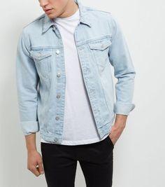 pale blue denim jacket for guys - #theunstitchd