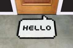 Hello White Doormat #luvocracy #design