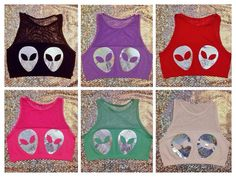 Alien Crop Top by themoonaura on Etsy - YES.