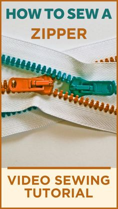 Let me show you the fastest and easiest way to sew an invisible zipper using Wonder tape for sewing. This is step by step video tutorial. Zipper Tutorial, Tutorial Sewing, Sewing Tutorials, Bag Tutorials, Sewing Tips, Sewing Hacks, Sewing For Beginners Diy, Sewing For Dummies, Sewing Machine Basics
