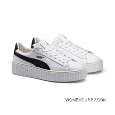 Mens PUMA BY RIHANNA CREEPER WHITE LEATHER Puma White-Puma Black-Puma White  Copuon Code 435471b74