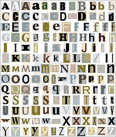 Alphabet Letters Magazine & Newspaper Style Stock Images - Image: 19398324