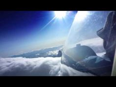 Glider Flying In The Alps