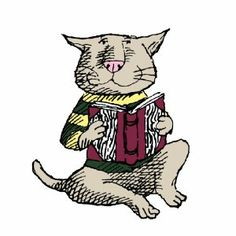 Edward Gorey: Cat in Sweater Push Button Strange man he was but I love his cats! LMH