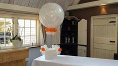 Enveloppenkist bij uw trouwerij voorzien van grote ballon