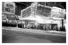 Paramount Theatre in Times Square after a heavy snowstorm - 1947