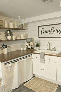 01 Best Rustic Farmhouse Kitchen Cabinets Ideas