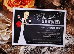 Wine Bridal Shower Invitations by OliveBerryPaper on Etsy