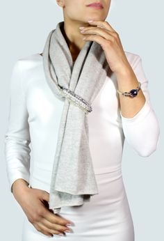 Elegant gray scarf cashmere scarf gray jewelry scarf high fashion scarf gift for her scarf pashmina infinity scarf warm scarf shawl Grey Scarf, Scarf Jewelry, Jewelry Bracelets, How To Wear Scarves, Cashmere Scarf, Scarf Styles, High Fashion, Ideias Fashion, Infinity Scarfs