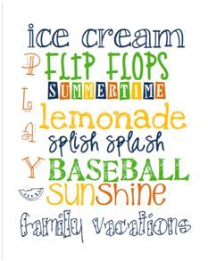 All my favorite things to do in the Summer!