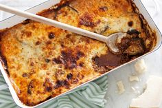 Cover fresh vegetables and lamb in creamy, light bechamel sauce.