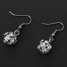 Classic (Ball Drop) Assorted Color AlloyRhinestone Drop Earrings(More Colors) (1 Pair) - buy for USD0.99