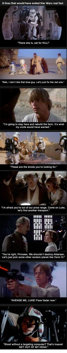 8 lines that would have ended Star Wars real fast. Awesome.: