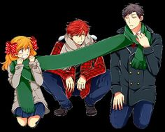 Lol poor Mikorin, socks being the third wheel | Gekkan shoujo Nozaki-kun