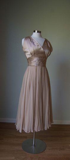 1950's Adele Simpson Silk Dress