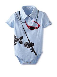 47% OFF Mini Shatsu Baby The Big Catch Bodysuit (Blue)