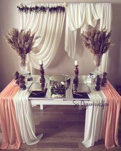 Engagement Party Decorations, Bridal Shower Decorations, Diy Party Decorations, Wedding Centerpieces, Arch Decoration, Wedding Stage, Wedding Desserts, Event Decor, Wedding Designs