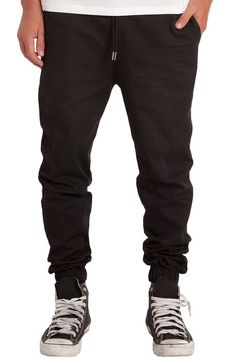 807cfffc807c4 The Stretch Twill Jogger Pants in Black Black Jogger Pants