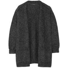 Isabel Marant Tagus metallic knitted cardigan ($402) ❤ liked on Polyvore featuring tops, cardigans, jackets, outerwear, clothes - outerwear, black, isabel marant top, metallic cardigan, metallic top and isabel marant cardigan