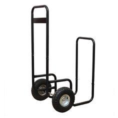 HIO Haul-It Wood Mover Rolling Firewood Cart Log Rack On Wheels