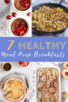 These 7 easy recipes provide some healthy, make ahead ideas for breakfast to make sure you're fueling for your workout and your day. #mealprepbreakfast #breakfastideas #breakfastforathletes #postworkoutmeal Best Breakfast Smoothies, Easy Healthy Breakfast, Healthy Meal Prep, Easy Healthy Recipes, Easy Meals, Vegetarian Breakfast Casserole, Veggie Casserole, Post Workout Food, Healthy Vegetables