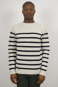 A.P.C. Heavy Sailor Knit     http://ideologyboutique.co.uk/apc-striped-pullover-marine.html#