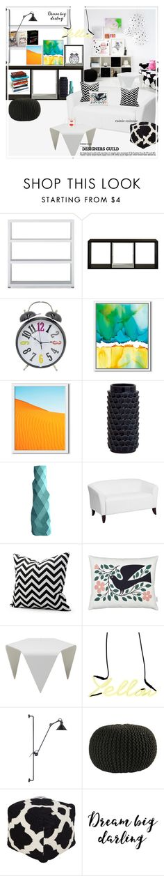 """""""Lovely Side of Modern"""" by rainie-minnie ❤ liked on Polyvore featuring interior, interiors, interior design, home, home decor, interior decorating, Guide London, Dot & Bo, West Elm and Flash Furniture"""