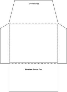small envelope template - note: the printed size does not match ...