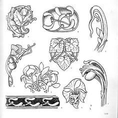 Motifs Art Nouveau, Design Art Nouveau, Bijoux Art Nouveau, Art Nouveau Pattern, Embroidery Art, Embroidery Patterns, Filigree Tattoo, Ornament Drawing, Doodle Art Drawing
