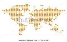 Pixelated Vector Grid Map - 37028098 : Shutterstock