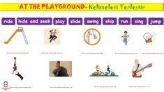 "2. Sınıf İngilizce dersi ""At The Playgorund"" ünitesi etkinlikleri Singing, Map, Location Map, Maps"