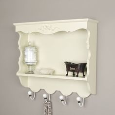 Gallery For Website shabby chic wooden bathroom shelves and hooks